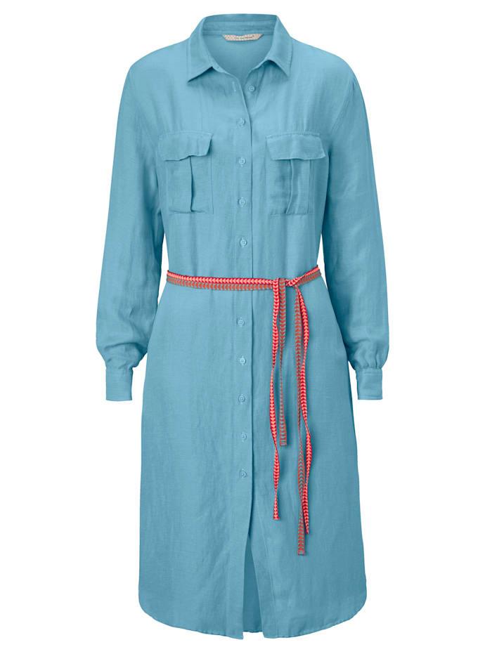 POM Hemdblusenkleid, Blau