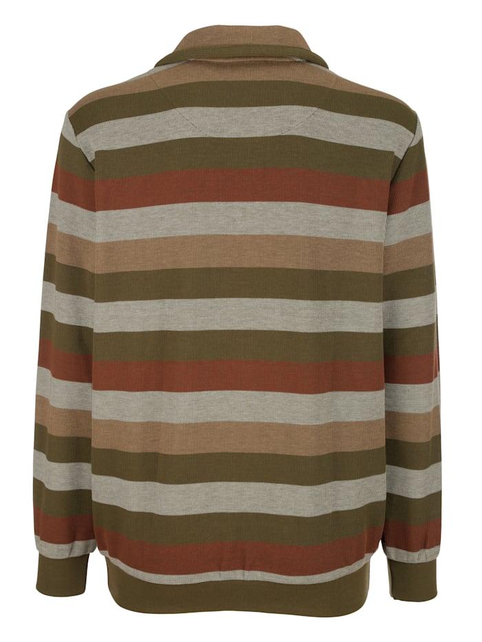 Sweatshirt mit Streifenmusterung