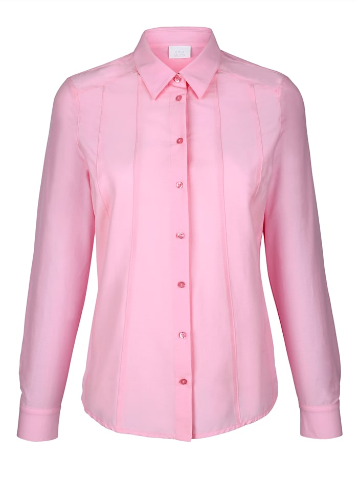 Alba Moda Blouse met biesjes voor, Roze