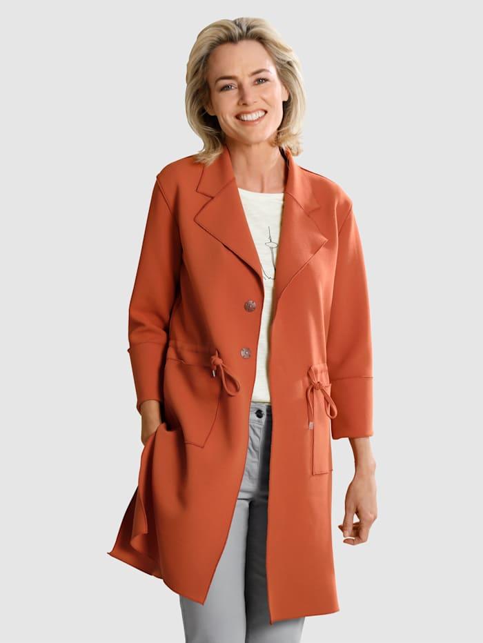 Dress In Kabát s fazónkovým límcem, Měděná