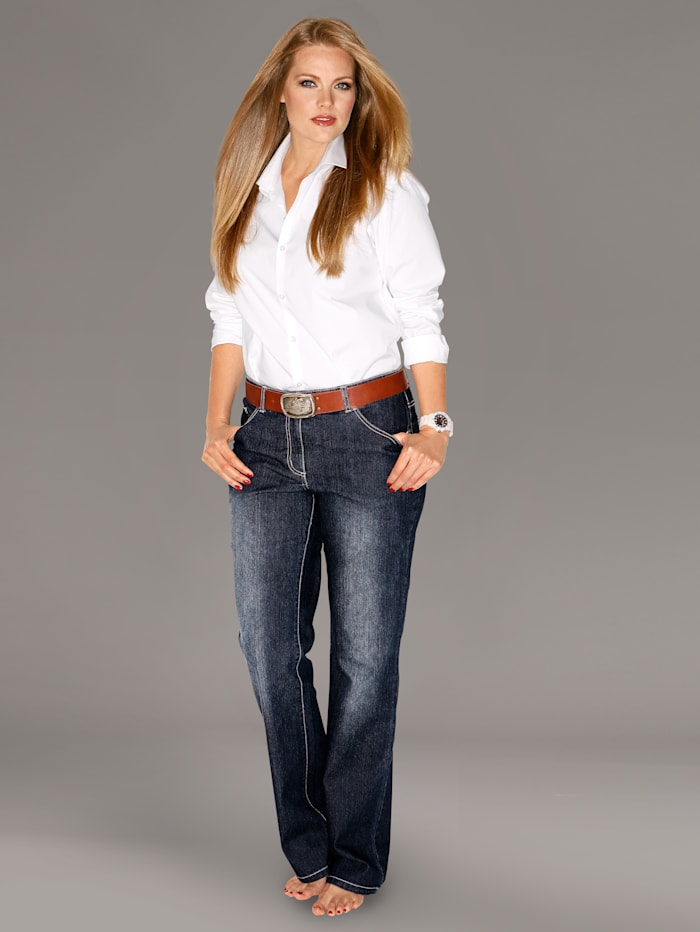 Dollywood Straight Cut Jeans Paula, Blau