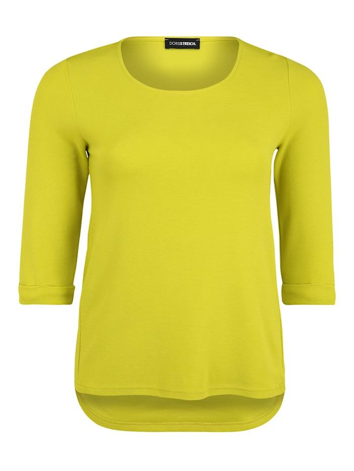Doris Streich Pullover mit Rundhalsausschnitt, gelb