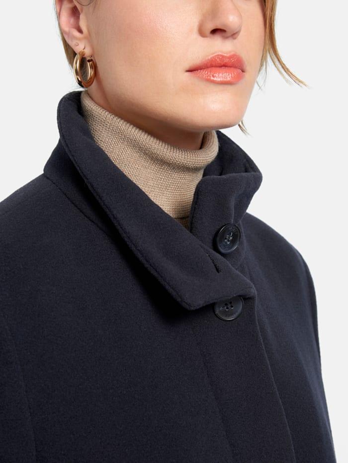 Mantel in Uni-Design mit Stehkragen