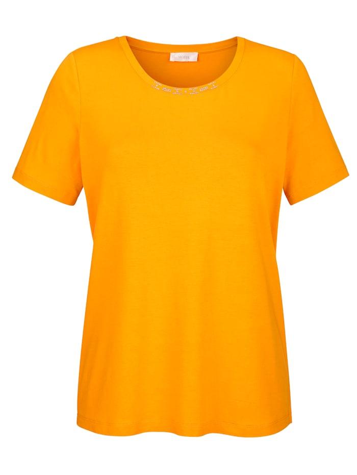 MONA T-shirt en jersey agréable à porter, Jaune