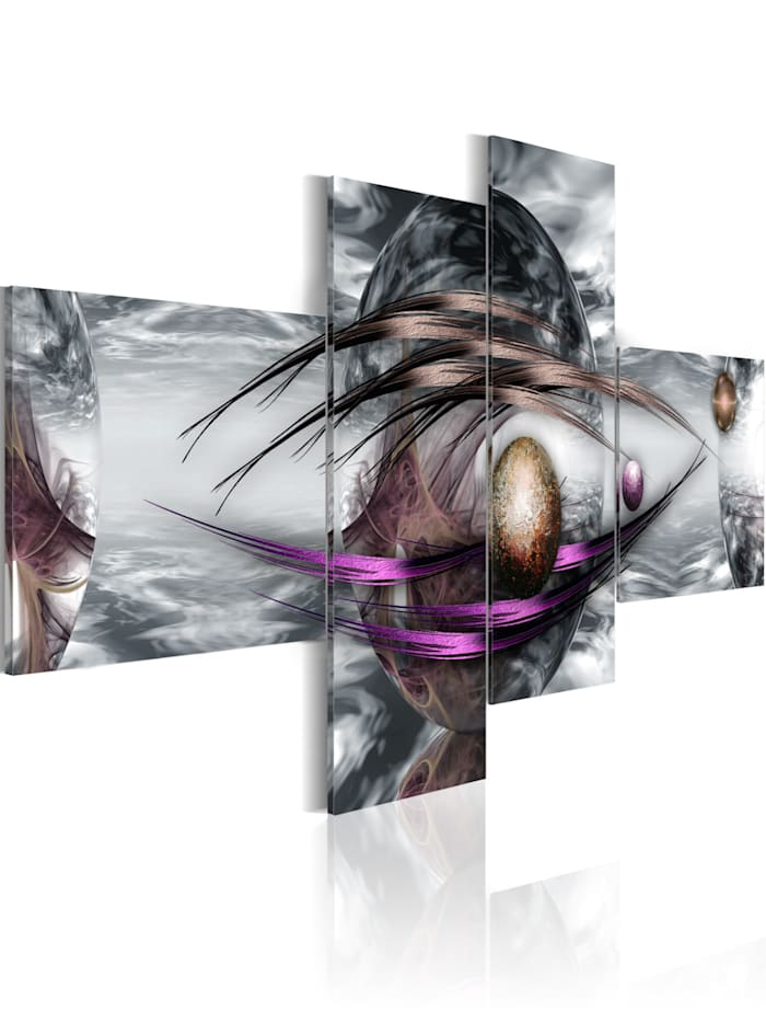 artgeist Wandbild Platinum planet, Braun,Violett,Grau