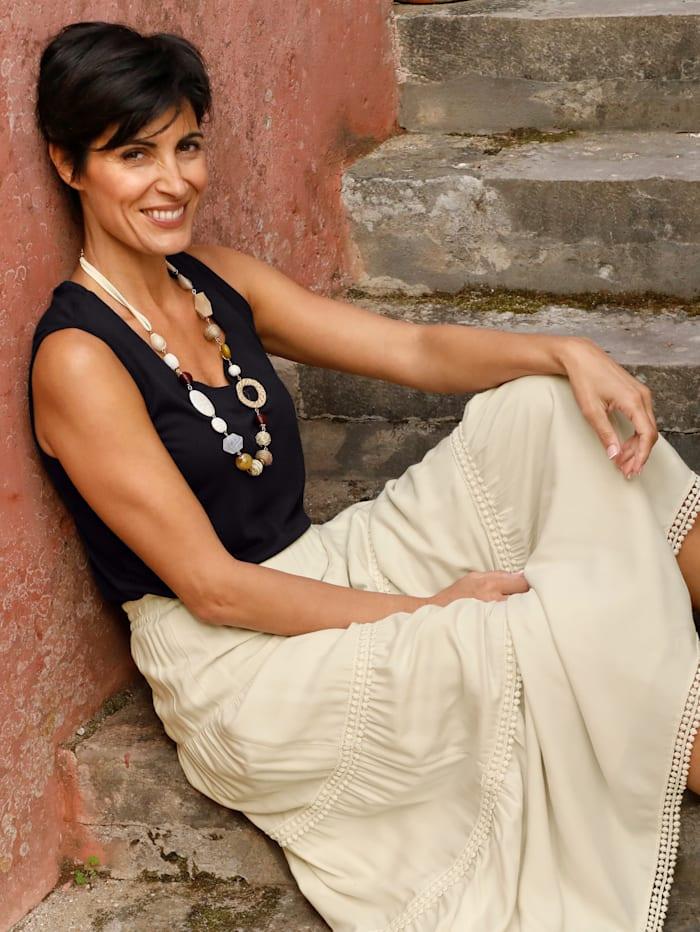 Paola Topje met bijzondere hals, Zwart