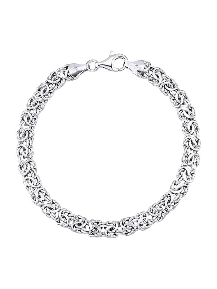 Kongearmbånd i sølv 925, Sølvfarger