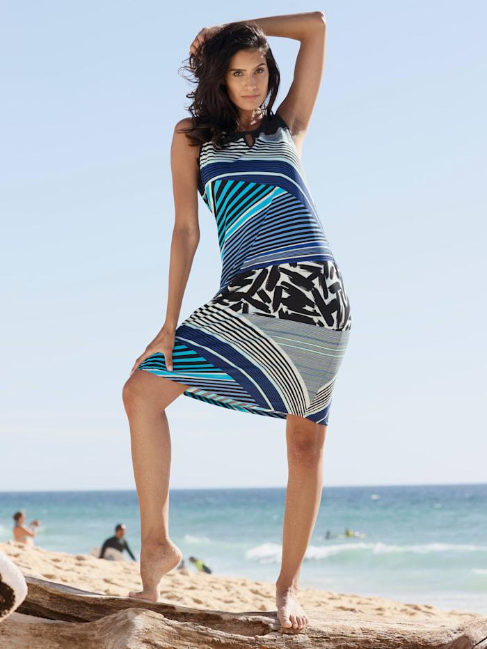 Strandkleid im modischen Streifenprint