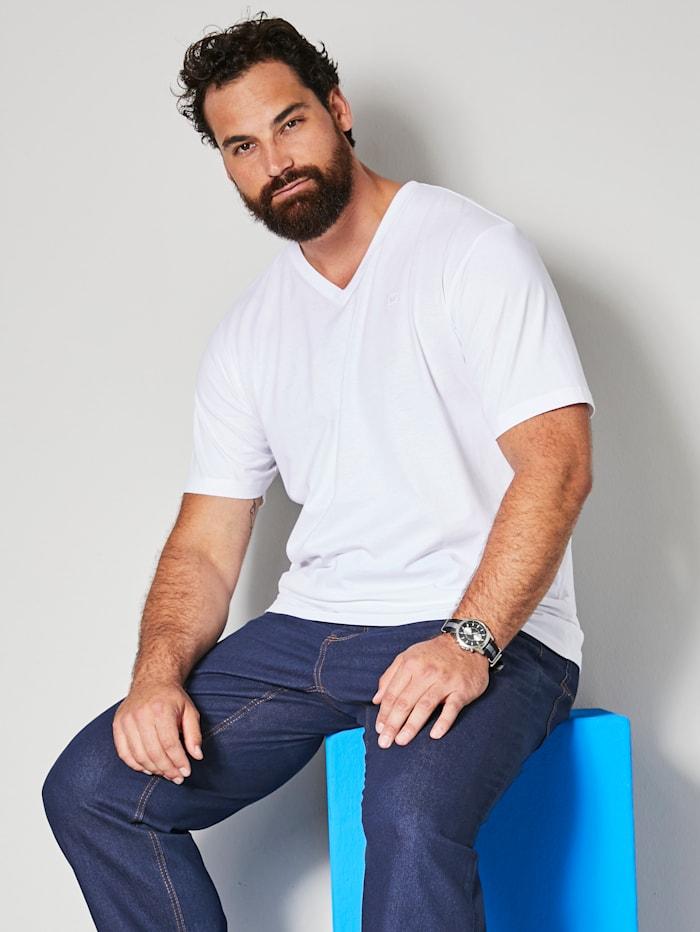 Men Plus V-Shirt ein Must-have, Weiß
