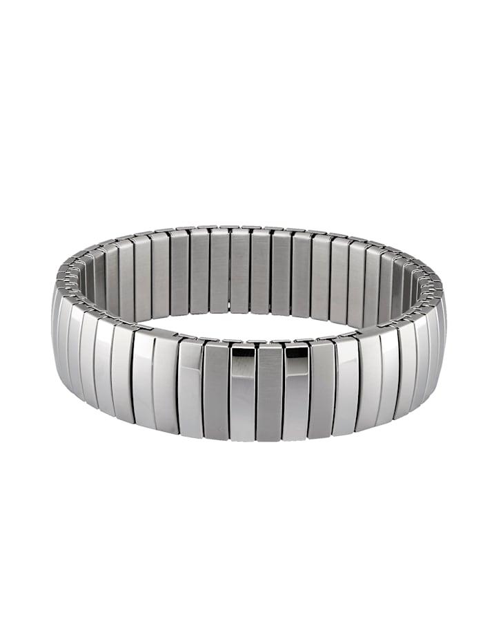 Magnetic Balance Armband aus Edelstahl, Silberfarben