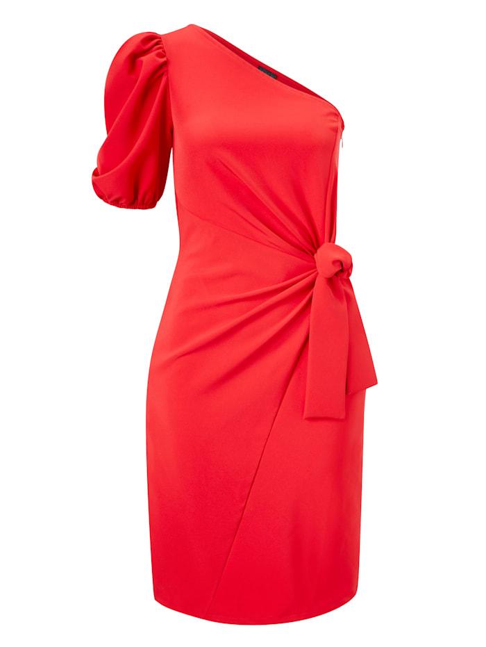 REKEN MAAR One-Shoulder-Kleid, Rot