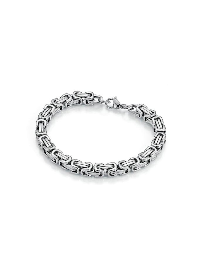 Jacques Charrel Armband massiv, Königsarmbandoptik, Silber