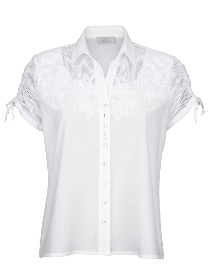 Blouse with sequin detailing