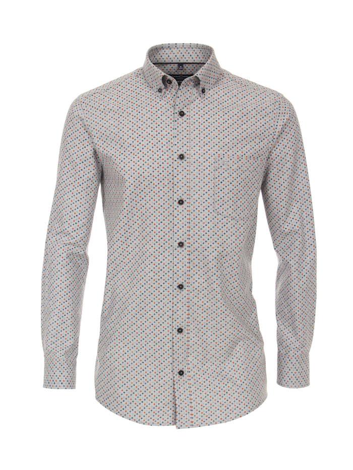 CASAMODA Hemd Print Comfort Fit, Grau