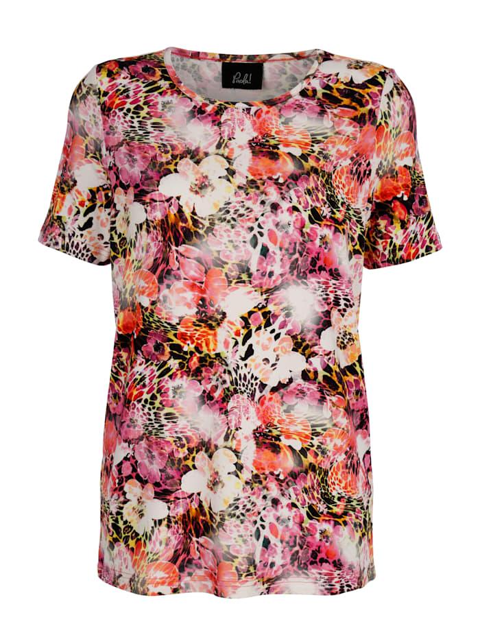 Paola Shirt im exklusivem Druckdessin, Cyclam