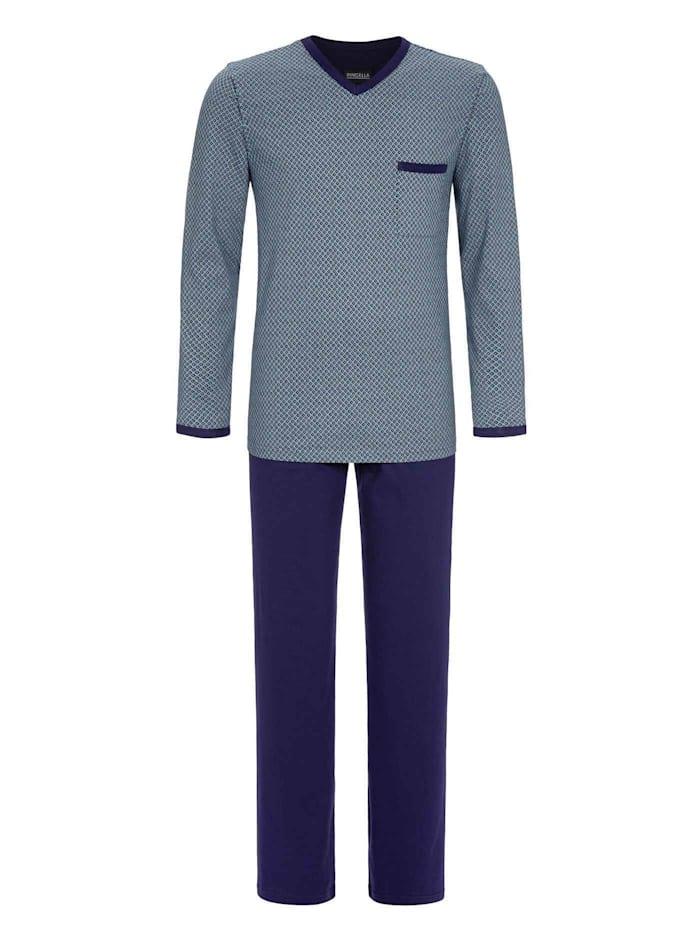 Ringella Pyjama, lang Ökotex zertifiziert, marine