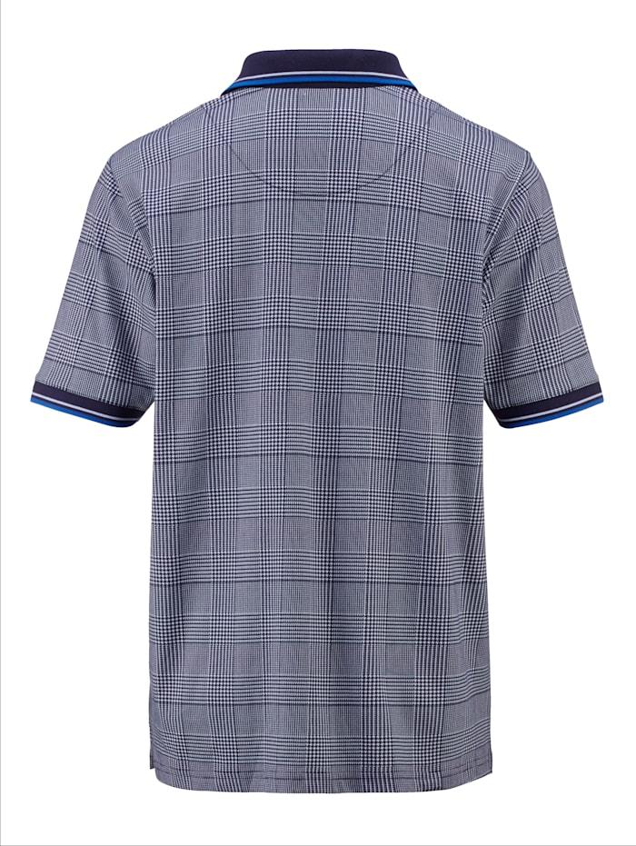 Poloshirt met pied-de-poule-dessin