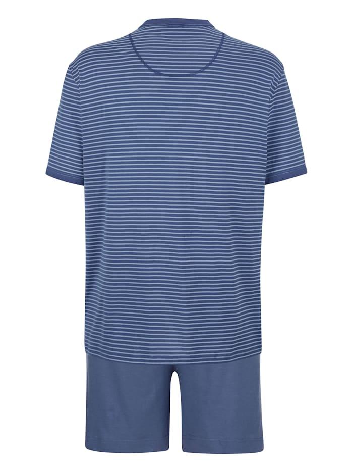 Pyjashort à motif rayé tissé teint