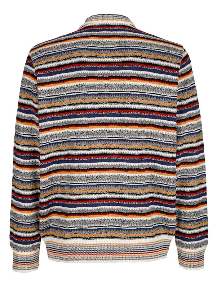 Pullover mit Allover-Streifenmuster