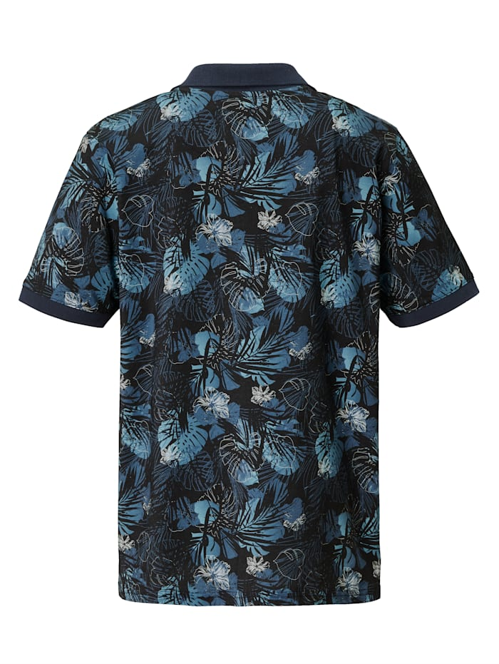 Poloshirt met bloemenpatroon