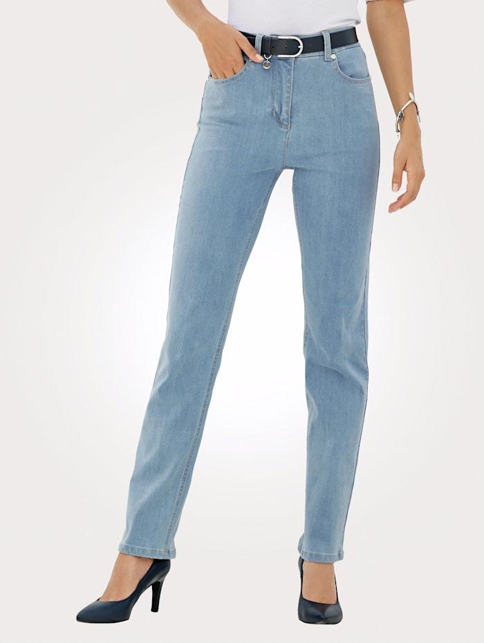 MONA Jean de coupe 5 poches, Bleu ciel