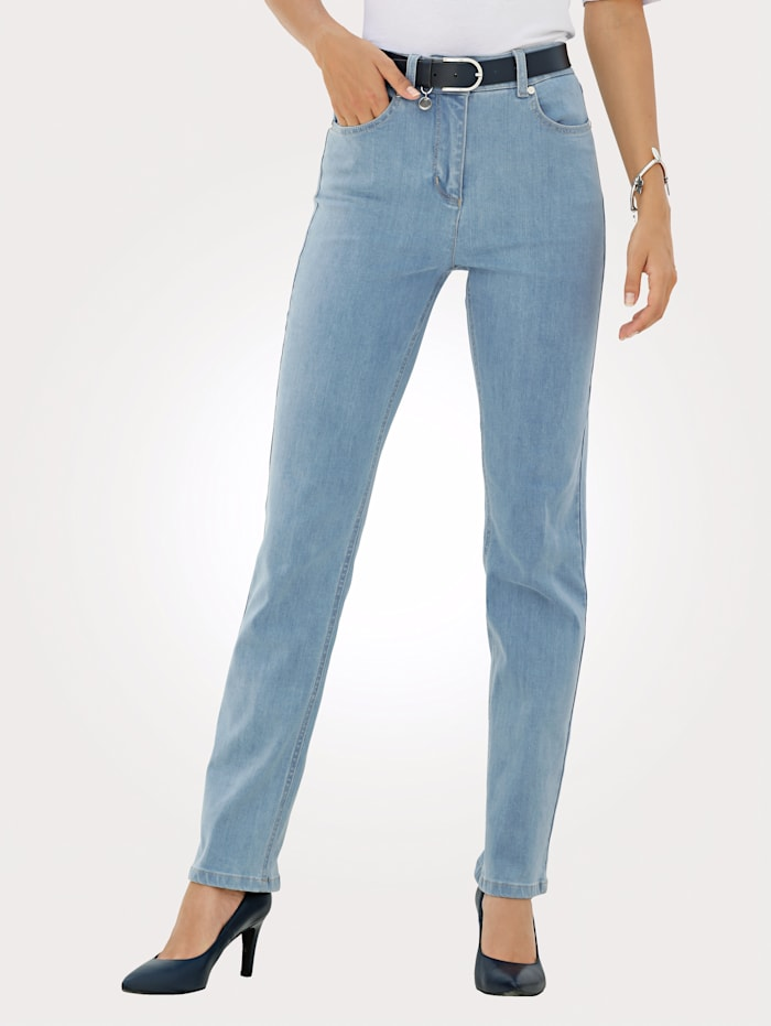 MONA Jeans in a 5-pocket style, Light Blue