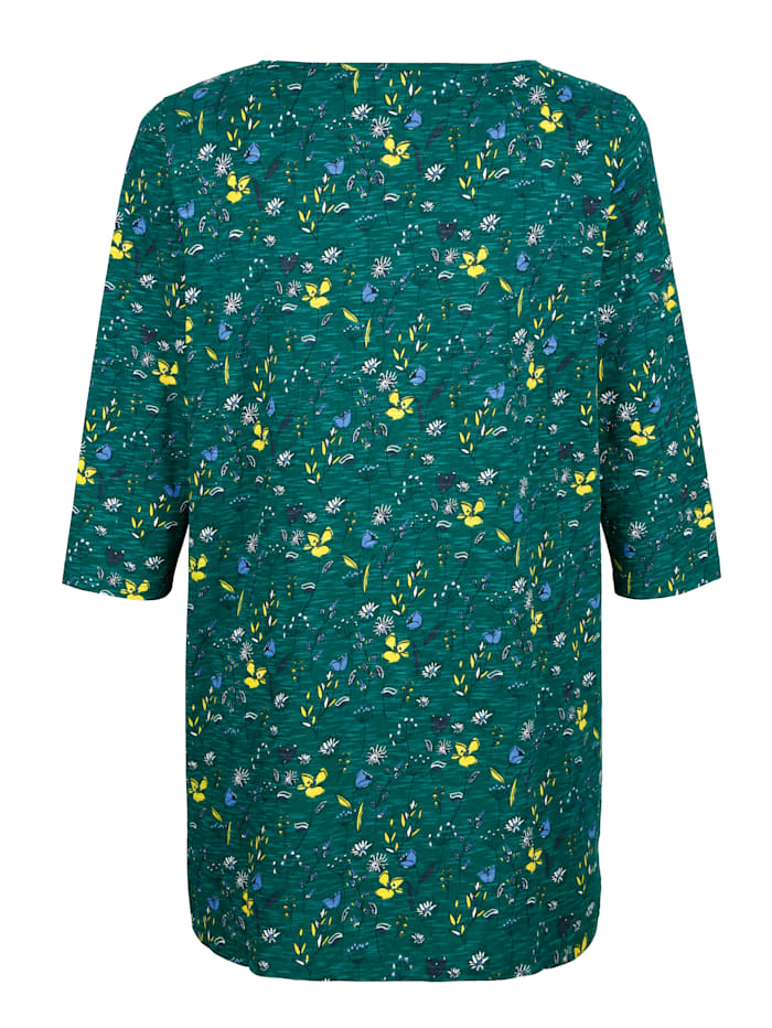 Dlouhé tričko s květinovým potiskem