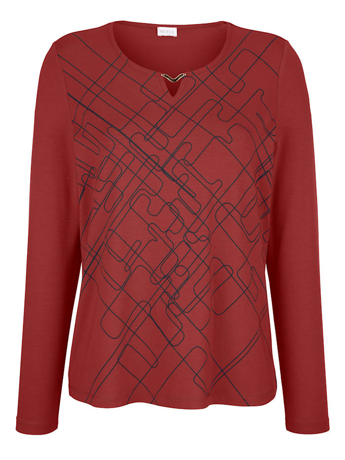 Shirt met grafisch patroon voor