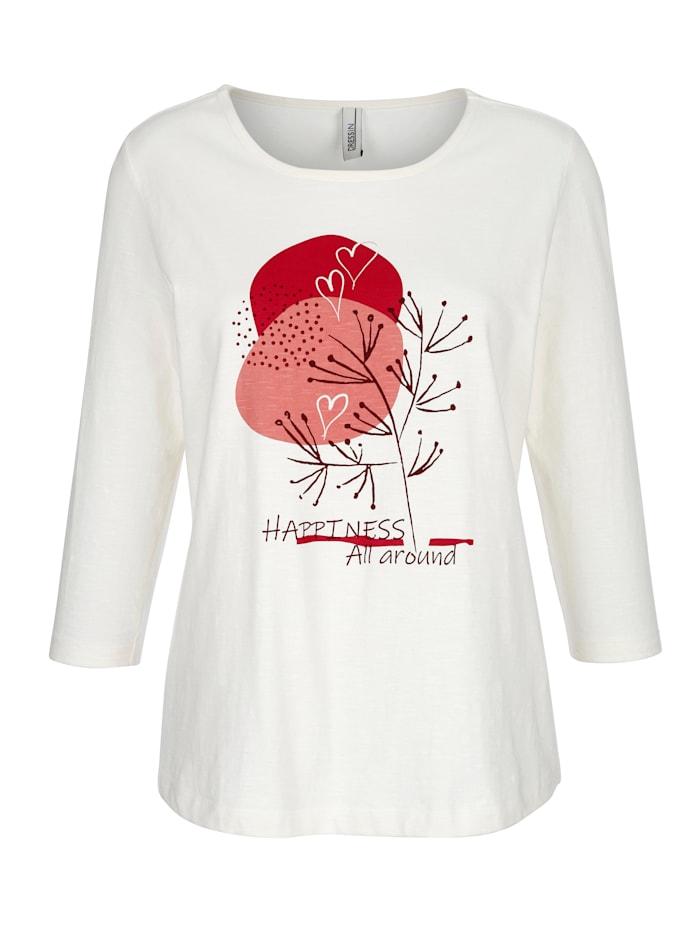 Dress In Shirt met modieuze print voor, Offwhite