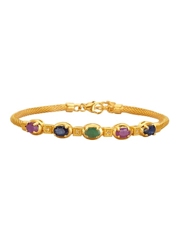 Bracelet à pierres colorées, Multicolore