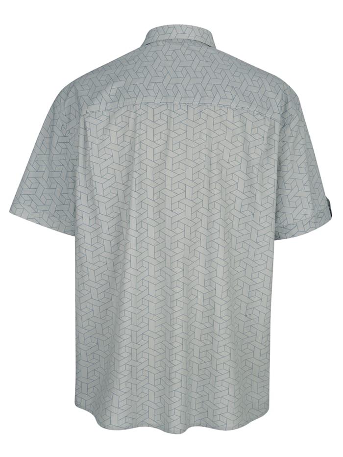 Overhemd met print rondom