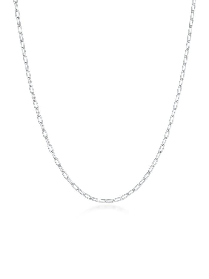 Elli Halskette Gliederkette Oval Chain Basic Trend 925 Silber, Silber