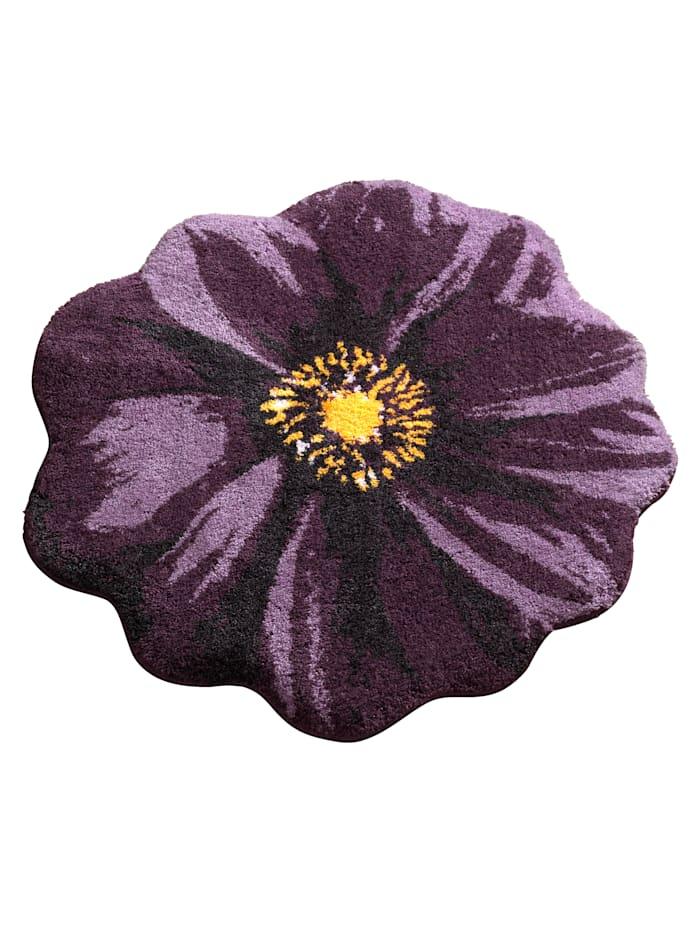 Grund Badematte  'Blüte', lila
