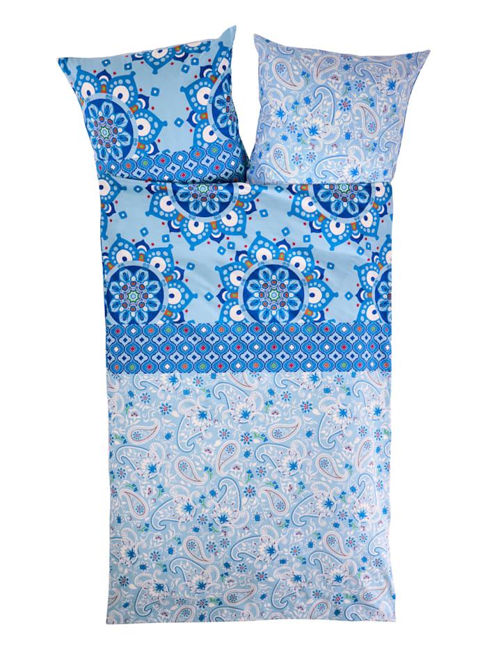 Casamaxx Bäddserie i jersey eller flanell, blå