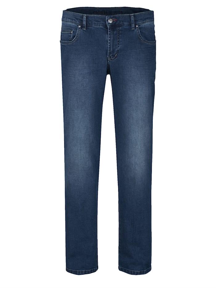 Jeans met modieuzekreukels