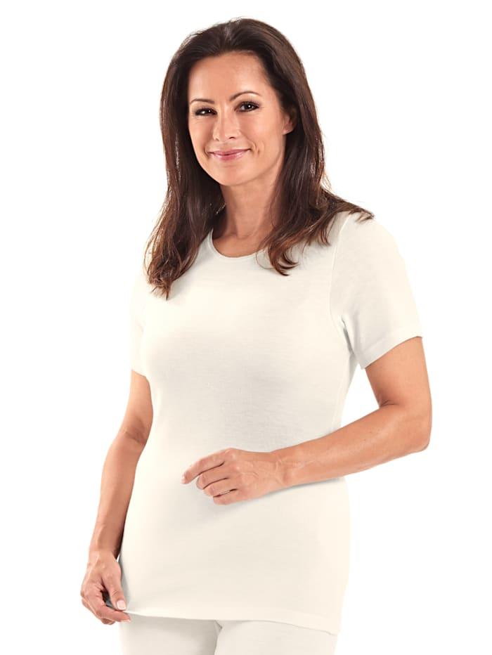 Peters angora T-shirt thermique à manches courtes femme, Beige