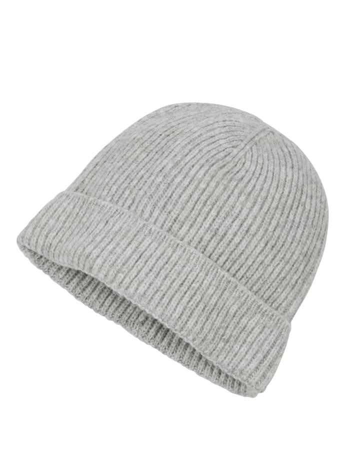 Mütze in Rippenstrick