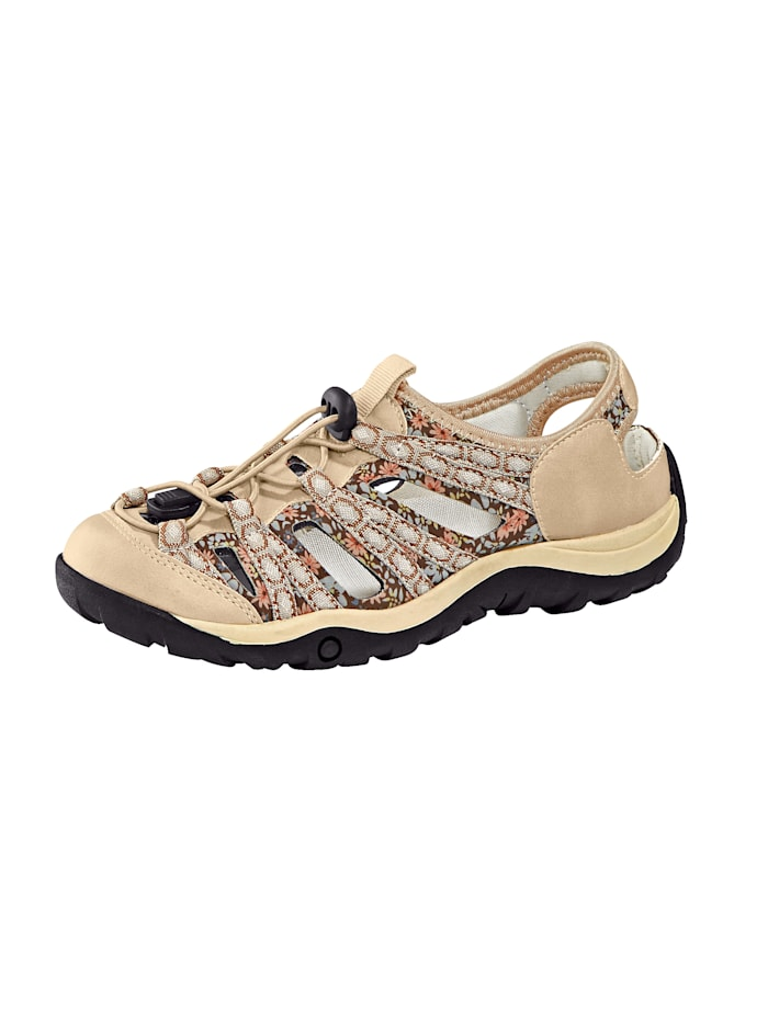 Liva Loop Slipper in Trekking-Optik, Beige