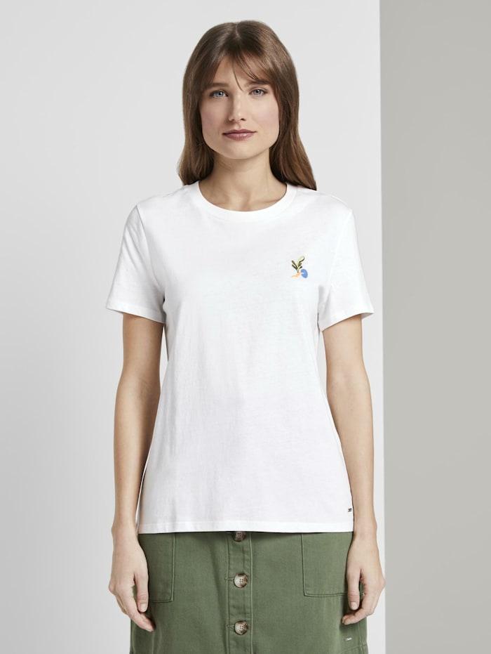 Tom Tailor Denim T-Shirt mit Rückenprint im Loose Fit, Off White