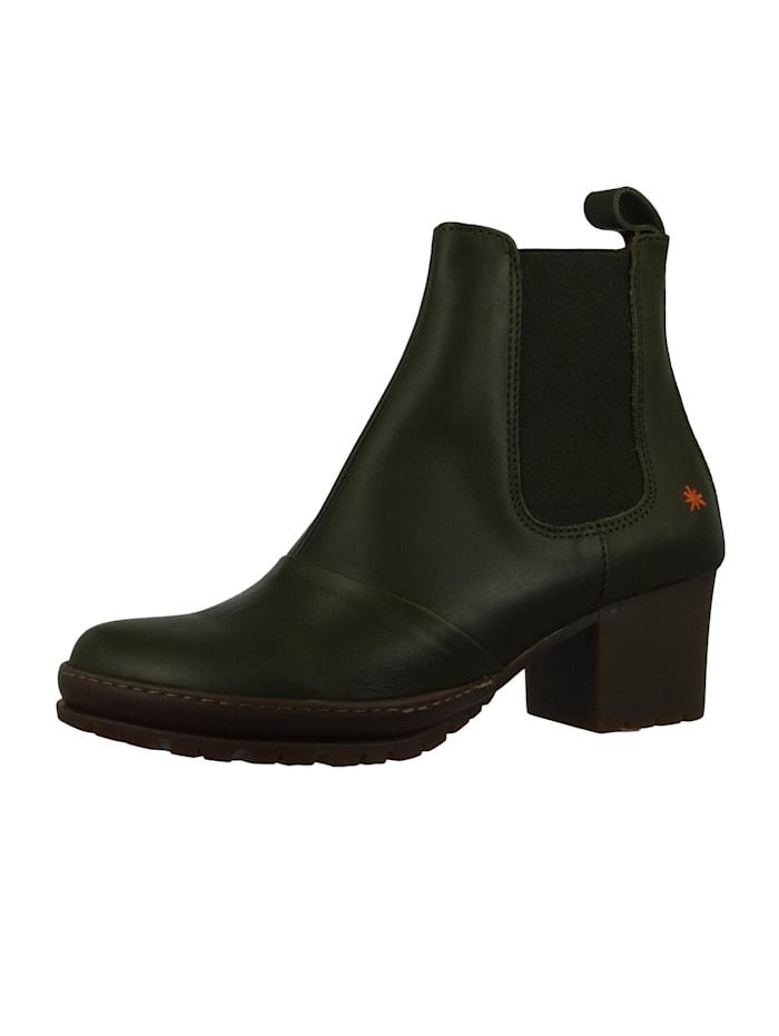 *art Damen Leder Stiefelette Ankle Boot Camden Kaki Grün 1235, Kaki
