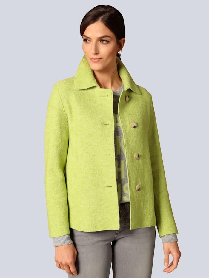 OUI Wolljacke in modischer Farbe, Grün