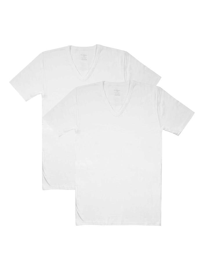Jockey Shirt, V-Neck im Doppelpack, white