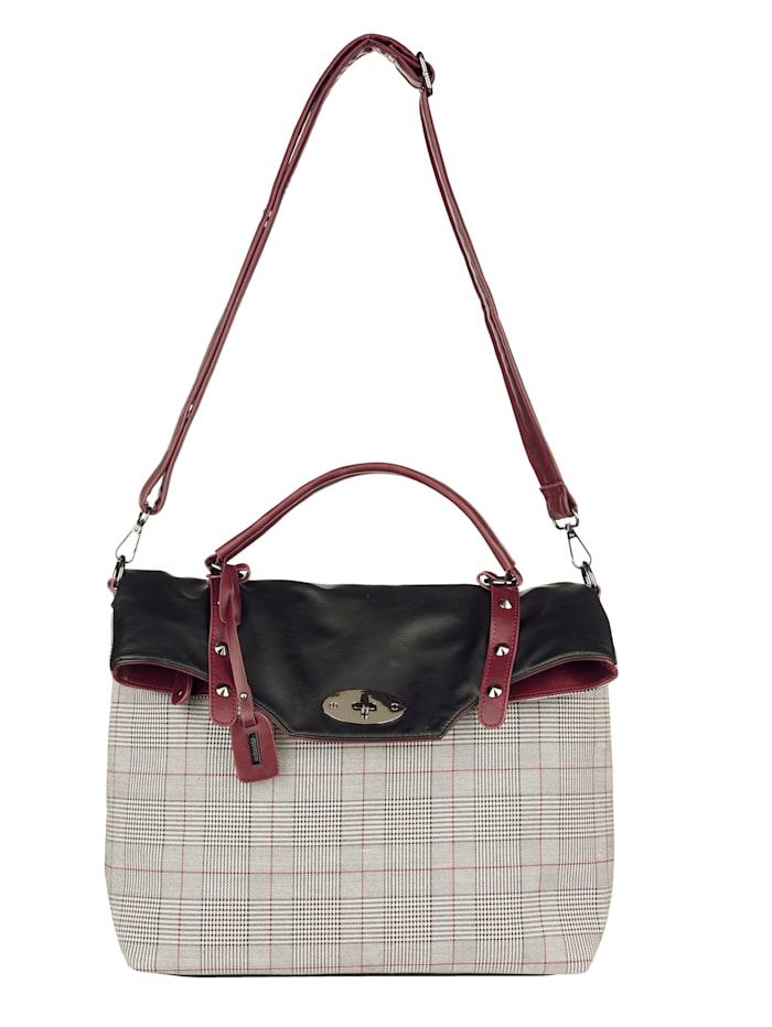 Remonte Handtasche mit nietenbestücktem Überschlag, schwarz-kombi