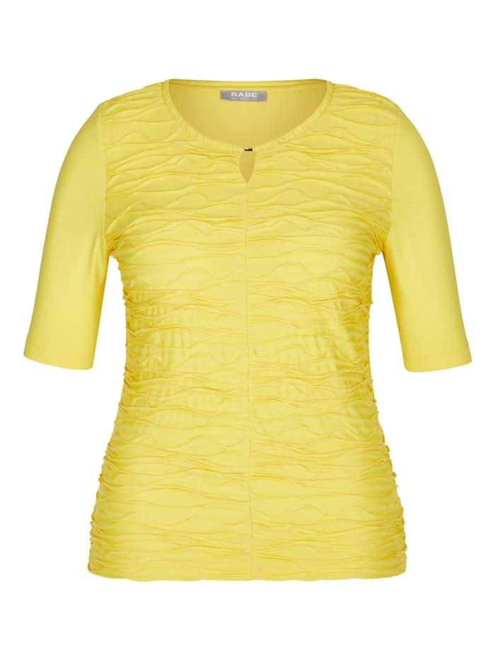 Rabe Shirt mit unifarbenem Stoff und halblangen Ärmel, ANANAS