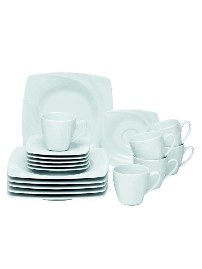 Van Well Service à café 18 pièces, Blanc