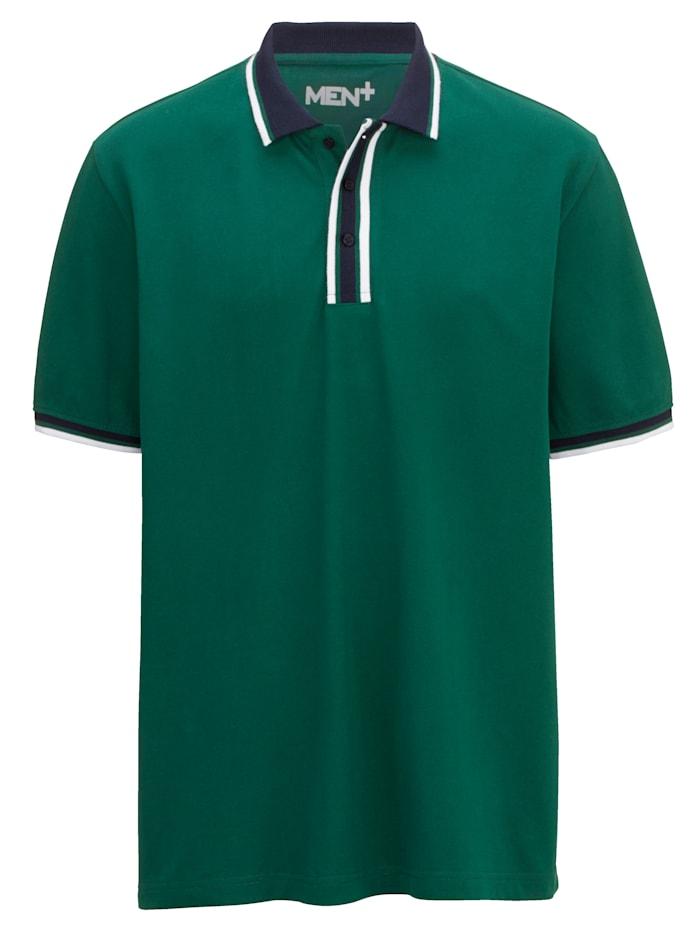 Men Plus Poloshirt, Groen
