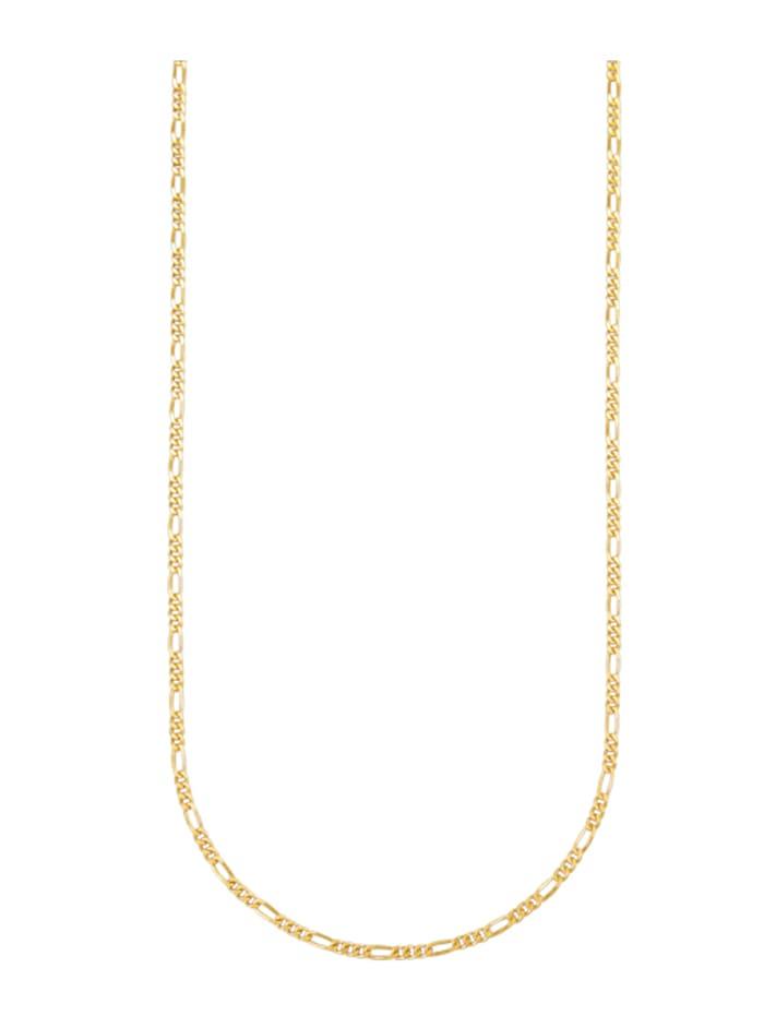 Amara Gold Figaropanzerkette in Gelbgold 585, Gelbgoldfarben