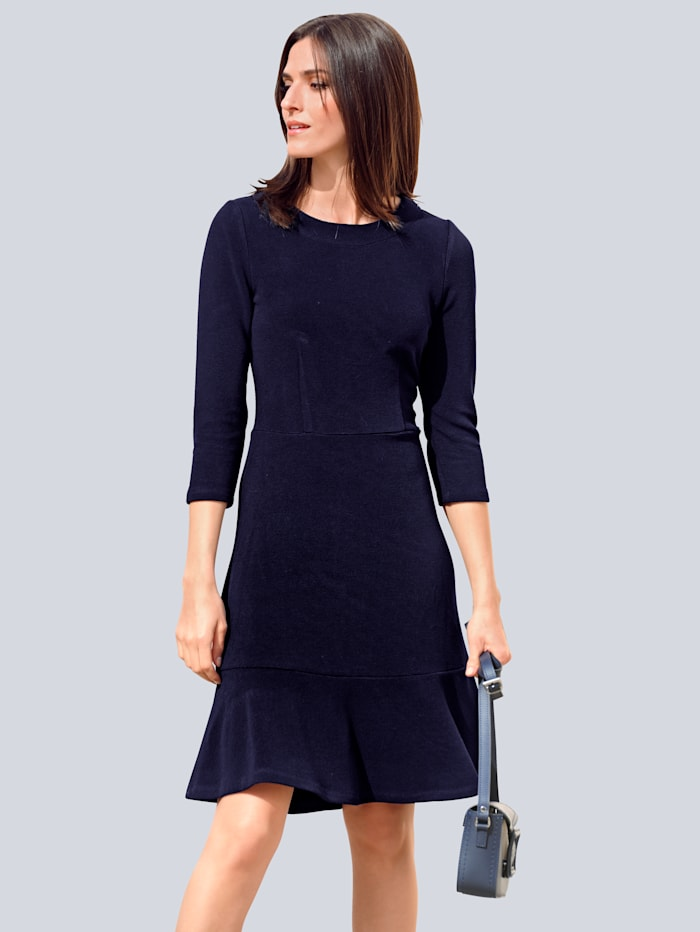 Alba Moda Jerseykleid mit Volants, Marineblau