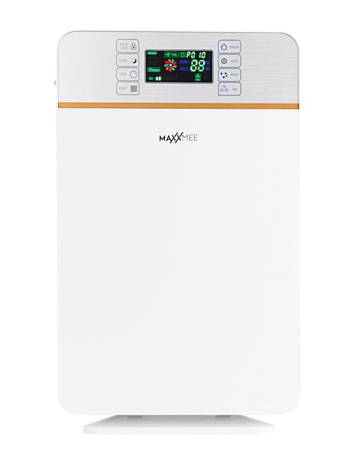 MAXXMEE Digitaler Luftreiniger, 6-Stufen-Reinigungsprozess, Fernbedienung, Weiß