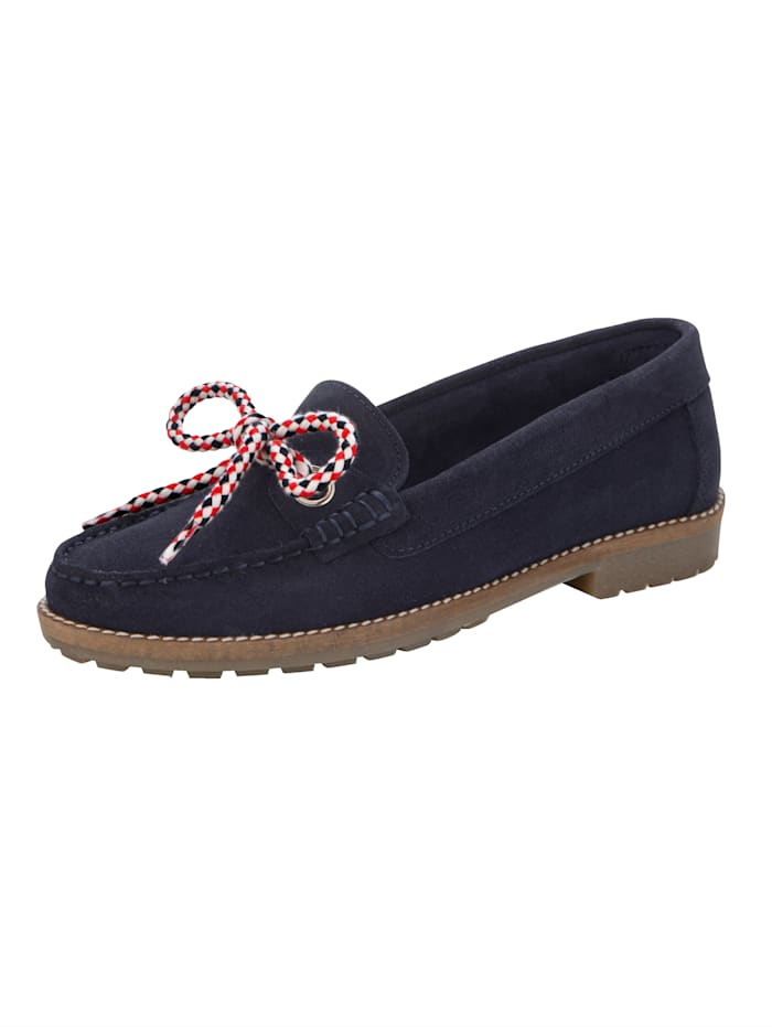 Naturläufer Moccasins made from soft suede, Navy